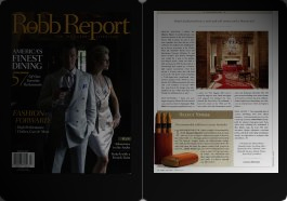 Article in Robb Report, March, 2007